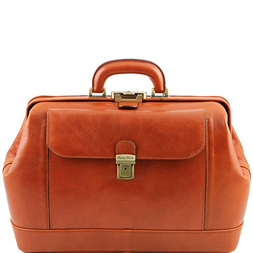 Honey leather doctor's bag by Tuscany Leather