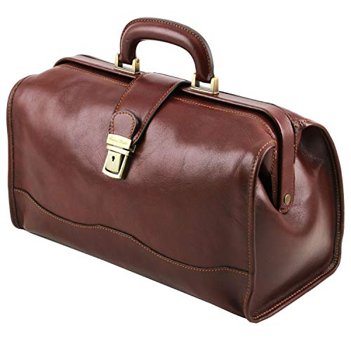 Genuine classic brown leather doctor's bag  by Tuscany Leather