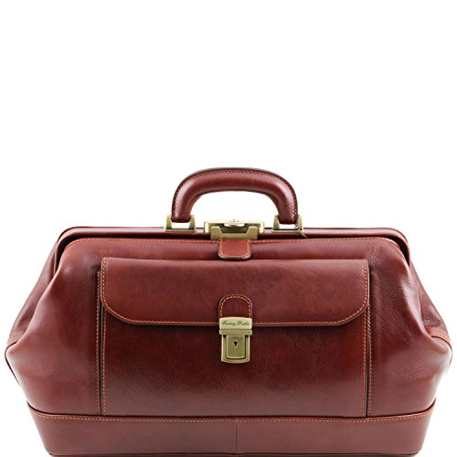 Genuine classic brown leather doctor's bag model by Tuscany Leather