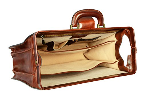 Leather Time Resistance dark brown doctor's briefcase for doctor on medical home visit