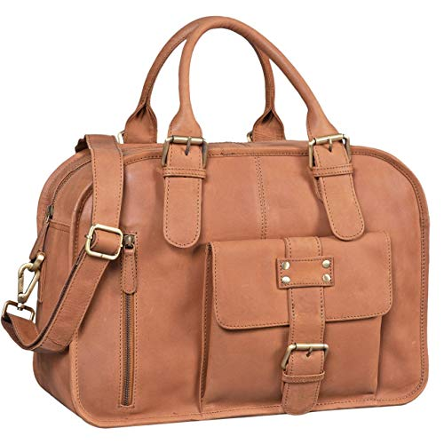 Large Doctor bag for the liberal nurse by Stilord made of brown light leather