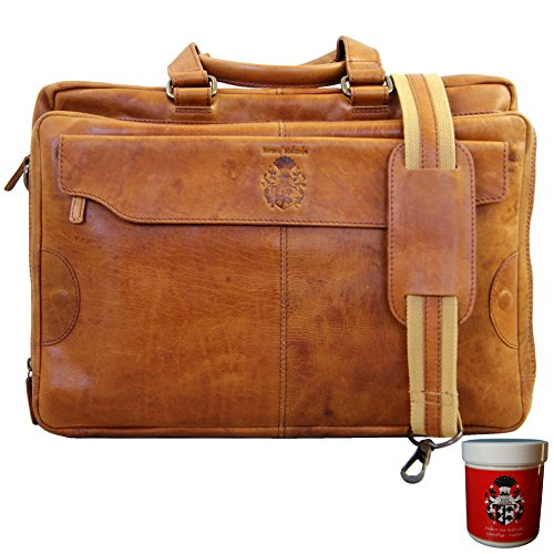Baron de Maltzahn cognac shoulder bag