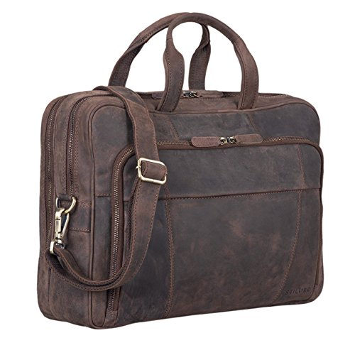 """Jaron"" the brown leather teacher's shoulder bag with a good value for money"